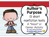 Author's Purpose Scoot w/ 13 Nonfiction Texts RI.2.6 To An