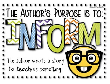 Author's Purpose Signs Emoji Style