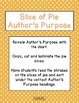 Author's Purpose:  Slice of Pie