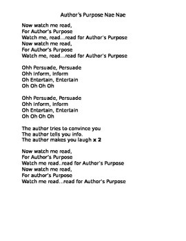Author's Purpose Song