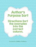 Author's Purpose Sort