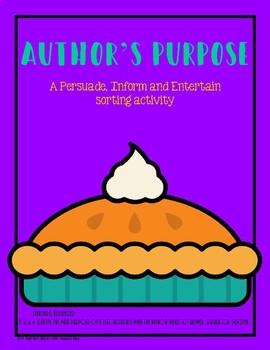 Author's Purpose Sort - PIE