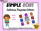 Author's Purpose Sorting Cards