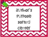 Author's Purpose Sorting Center