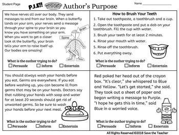 Author's Purpose Standard Edition