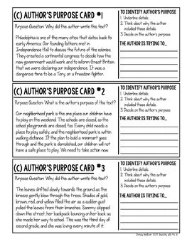 Author's Purpose Strategy MiniPack