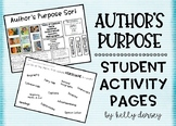 Author's Purpose- Student Activity Pages