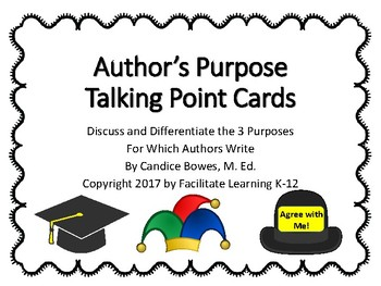 Author's Purpose Talking Point Cards