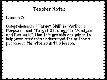 Author's Purpose Target Skill, Journey's Lesson 3