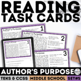 Author's Purpose Task Cards | PDF & Google Forms