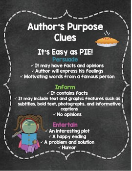Author's Purpose Task Cards Activity