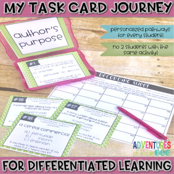 Author's Purpose Task Cards (Differentiated)