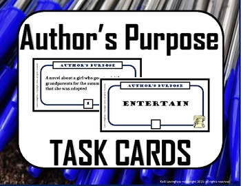 Author's Purpose Task Cards (Middle School)