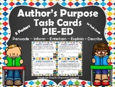 Author's Purpose Task Cards - PIE'ED