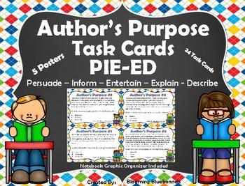 Author's Purpose Task Cards - PIE'ED