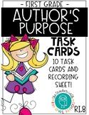 Author's Purpose Task Cards (RI.8)