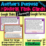 Author's Purpose Task Cards Using Google Forms: A Digital Resource
