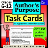 Author's Purpose Task Cards for High School and Middle School