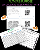 Author's Purpose Task Cards with QR Codes