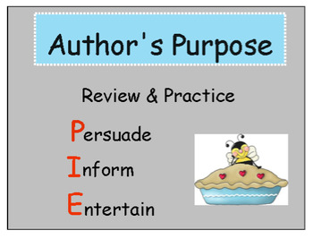 Author's Purpose Team Board Practice and Review