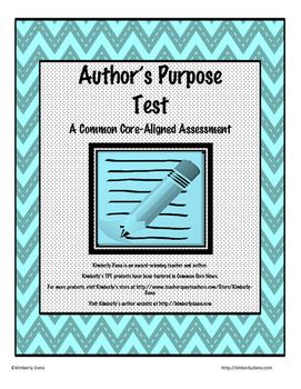 Author's Purpose Test