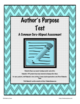 Author's Purpose Test