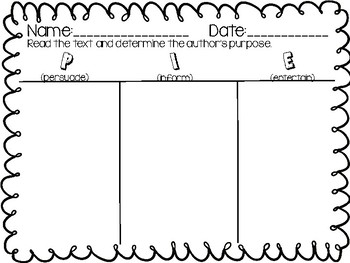 Author's Purpose-Text Matching Acitivty, Anchor Charts, and Poster!