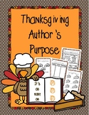 Author's Purpose: Thanksgiving Edition