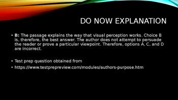 Author's Purpose Through Videos