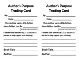 Author's Purpose Trading Card