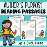Author's Purpose Trio: Egg and Chick Reading Passages