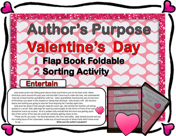Author's Purpose - Valentine's Day Flap Book and Sort