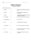 Author's Purpose Vocabulary Assessment