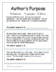 Reading strategy - Author's Purpose