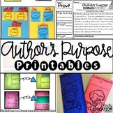 Author's Purpose - Worksheets, Interactive Journal Pages, Graphic Organizers