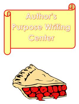 Author's Purpose Writing Center Activity