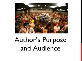 Author's Purpose and Audience