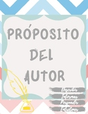 Author's Purpose in Spanish- Propósito del autor (NOT PIE)