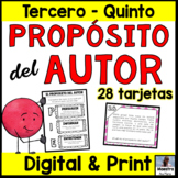 Author's Purpose in Spanish Task Cards - Propósito del autor