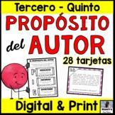Author's Purpose in Spanish - Propósito del autor - Lecturas - Digital and Print