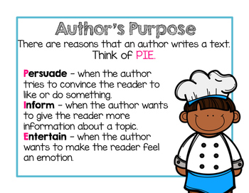 Author's Purpose is Easy as PIE ( RI.2.6 )