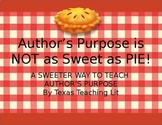 Author's Purpose is NOT as Easy as PIE! TEKS Based Activity