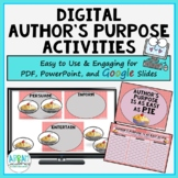 Author's Purpose is as Easy as PIE - sorts & writing