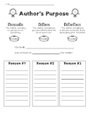 Author's Purpose (providing evidence)
