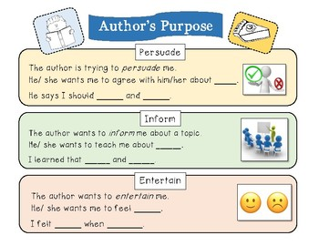 Author's Purpose sentence frames