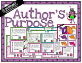 Author's Purpose - task cards for scoot or review with or without QR codes