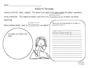 Author's Purpose to Inform
