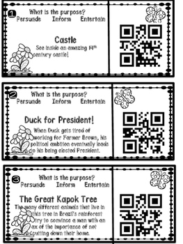 Author's Purpose with QR Codes