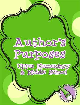 Author's Purposes Interactive notebook