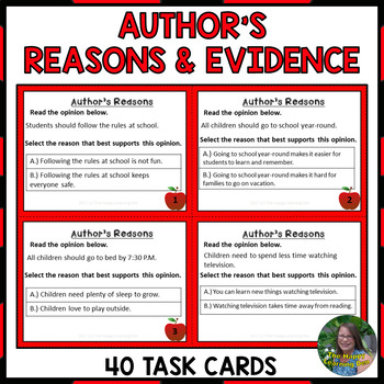 Author's Reasons and Evidence